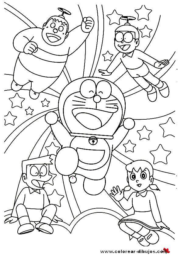 dibujos para colorear de Doraemon, dibujos de Doraemon para
