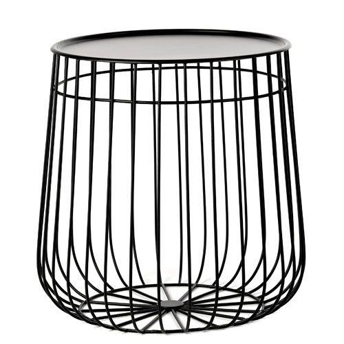 Table Basse En Metal Filaire Blanc Ou Noir Pols Potten Avec Rangement Decoclico
