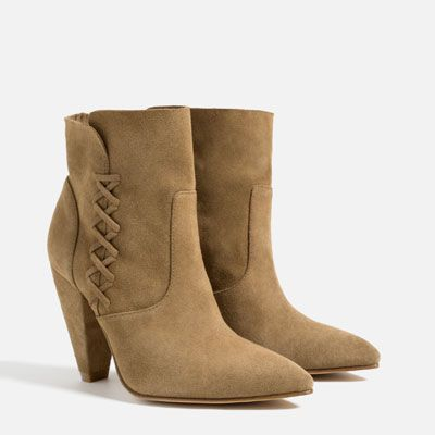 Image 3 of LEATHER HIGH HEEL ANKLE BOOTS from Zara