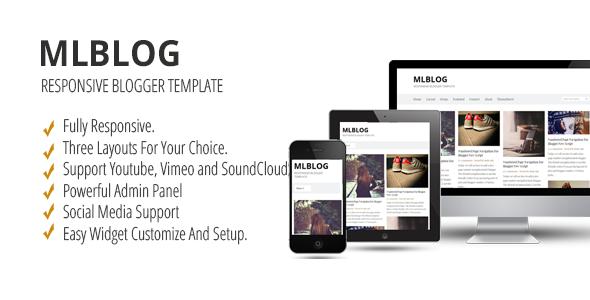 MLBLOG - Responsive Blogger Template   Website-Templates   Pinterest ...