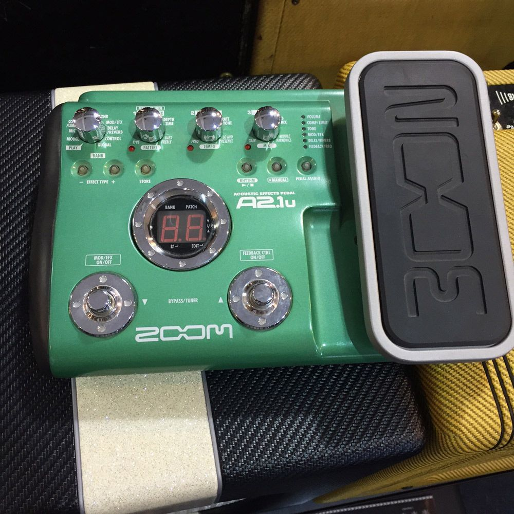 Zoom A2 1u Acoustic Guitar Multi Effects Pedal Pre Owned Guitar Multi Effects Pedal Guitar Multi Effects Acoustic Guitar