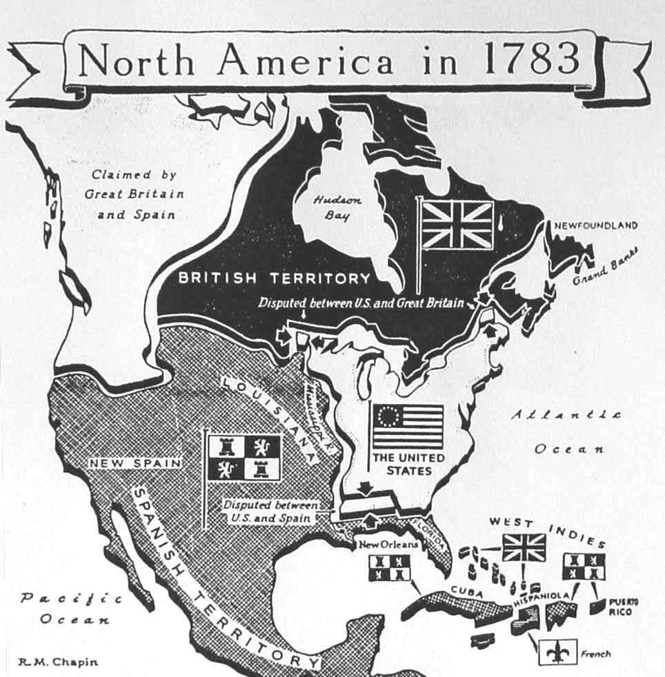 North America In Historia Pinterest American History - Us map 1783