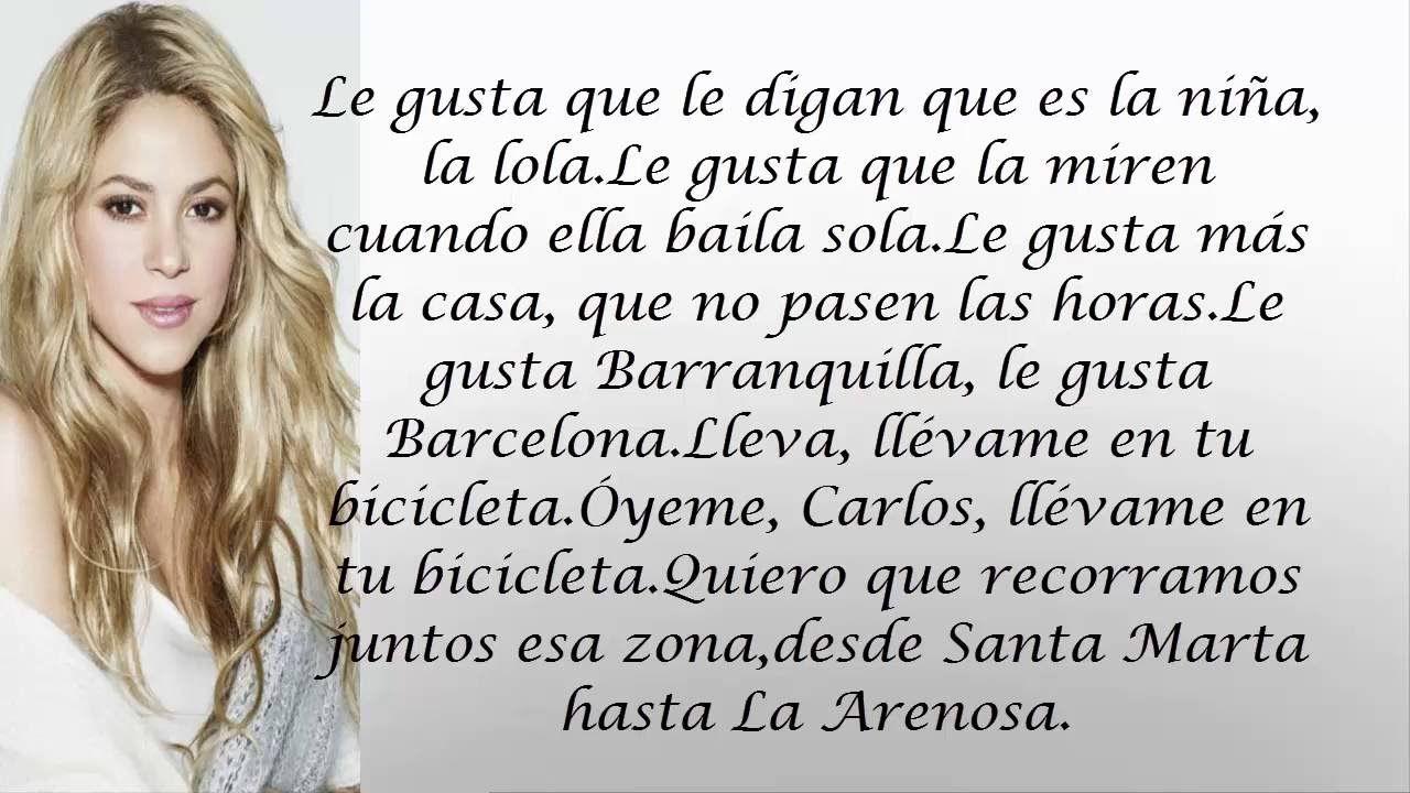 Carlos Vives, Shakira - La Bicicleta Letra Lyric Video / La Bicicleta Le.. ShakiraLyrics