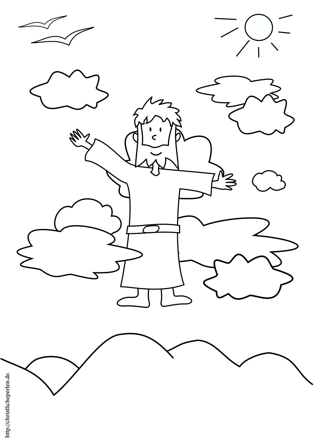 Himmelfahrt ausmalen | Himmelfahrt, Christlich und Ausmalen