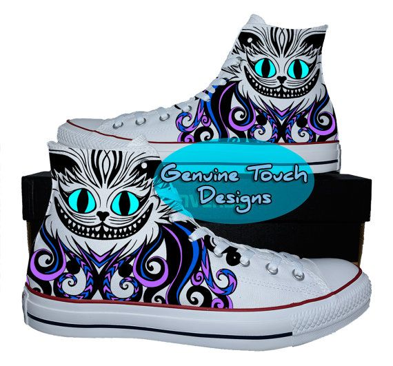 Custom Converse Cheshire cat Fanart Cat by GenuineTouchDesigns