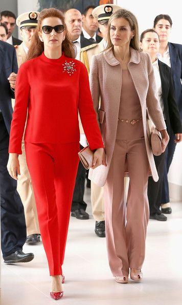 la princesa lalla salma y la reina letizia