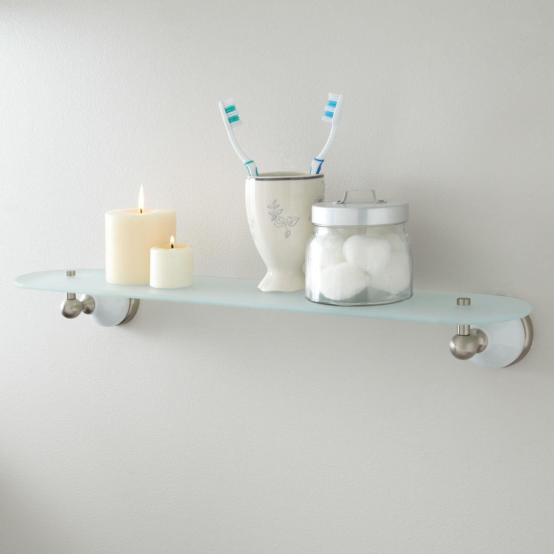 Houston Tempered Glass Shelf | Tempered glass shelves, Glass shelves ...