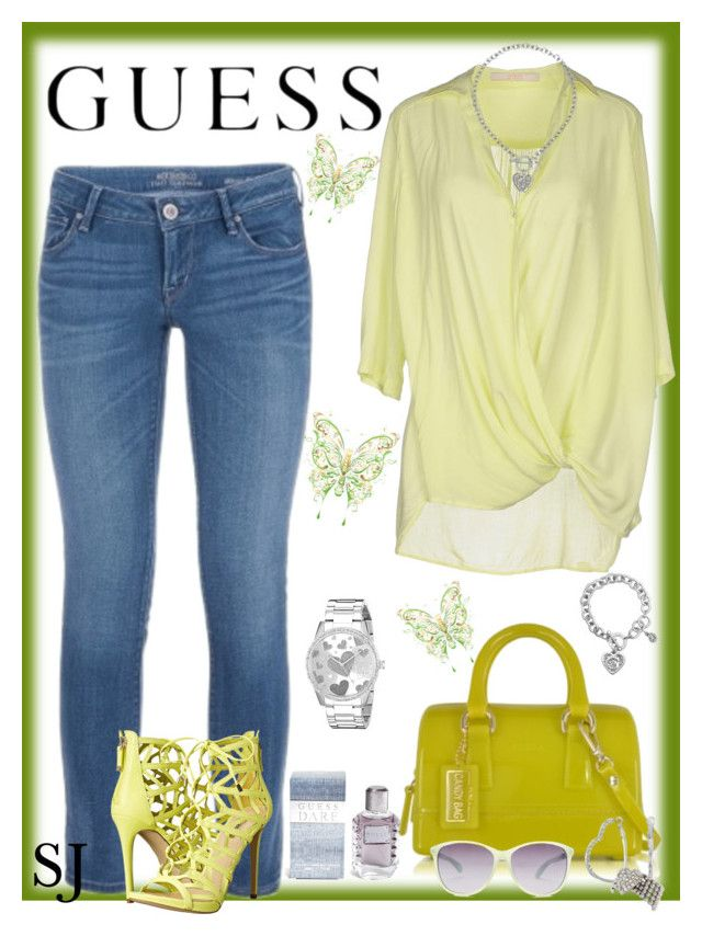 """GUESS"" by sassie144 on Polyvore featuring mode, GUESS en Furla"