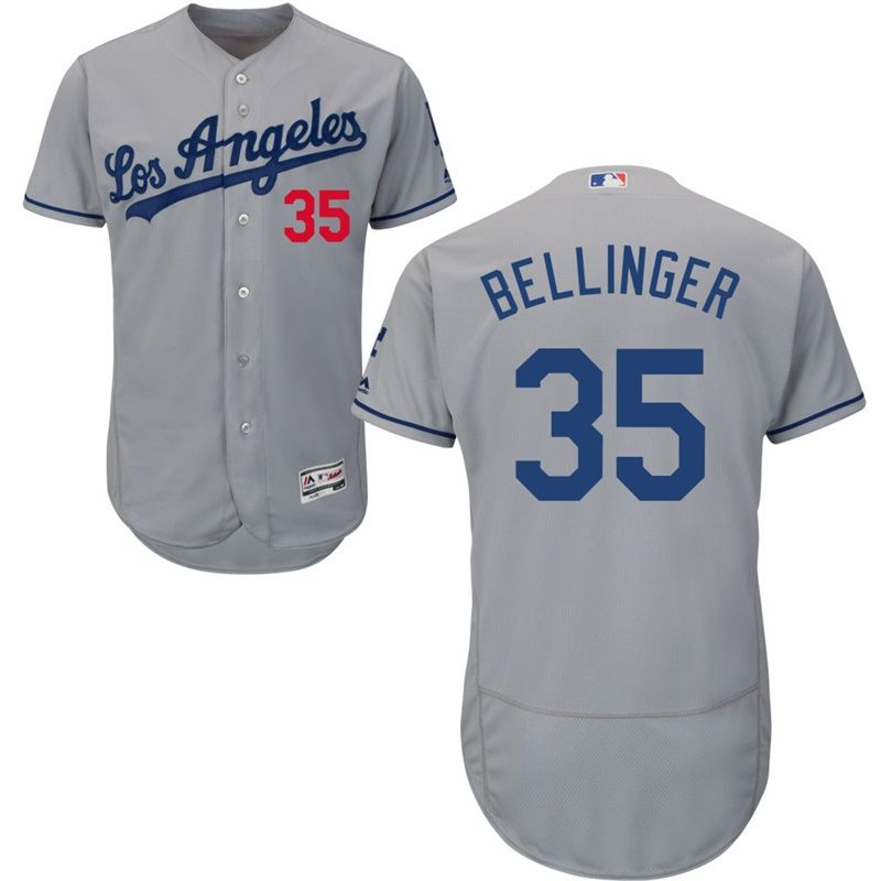 6c9652c799b Men Los Angeles Dodgers Cody Bellinger  35 Gray Road Flex Base Jersey