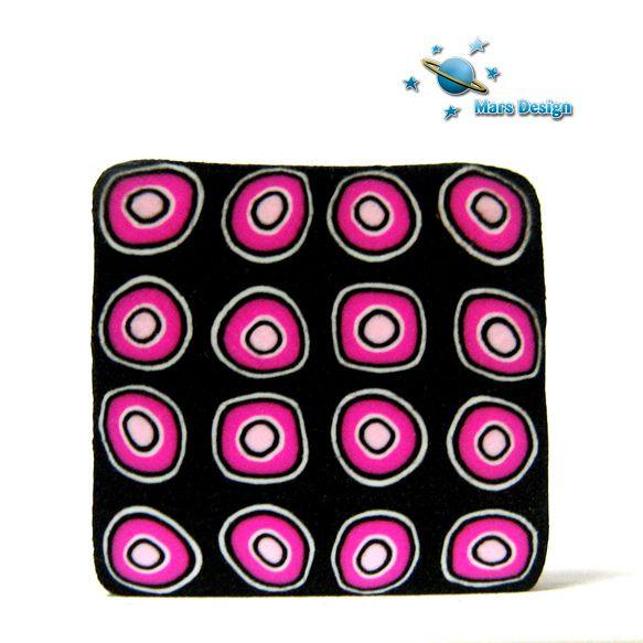 Pink dots cane by Marcia - Mars design, via Flickr