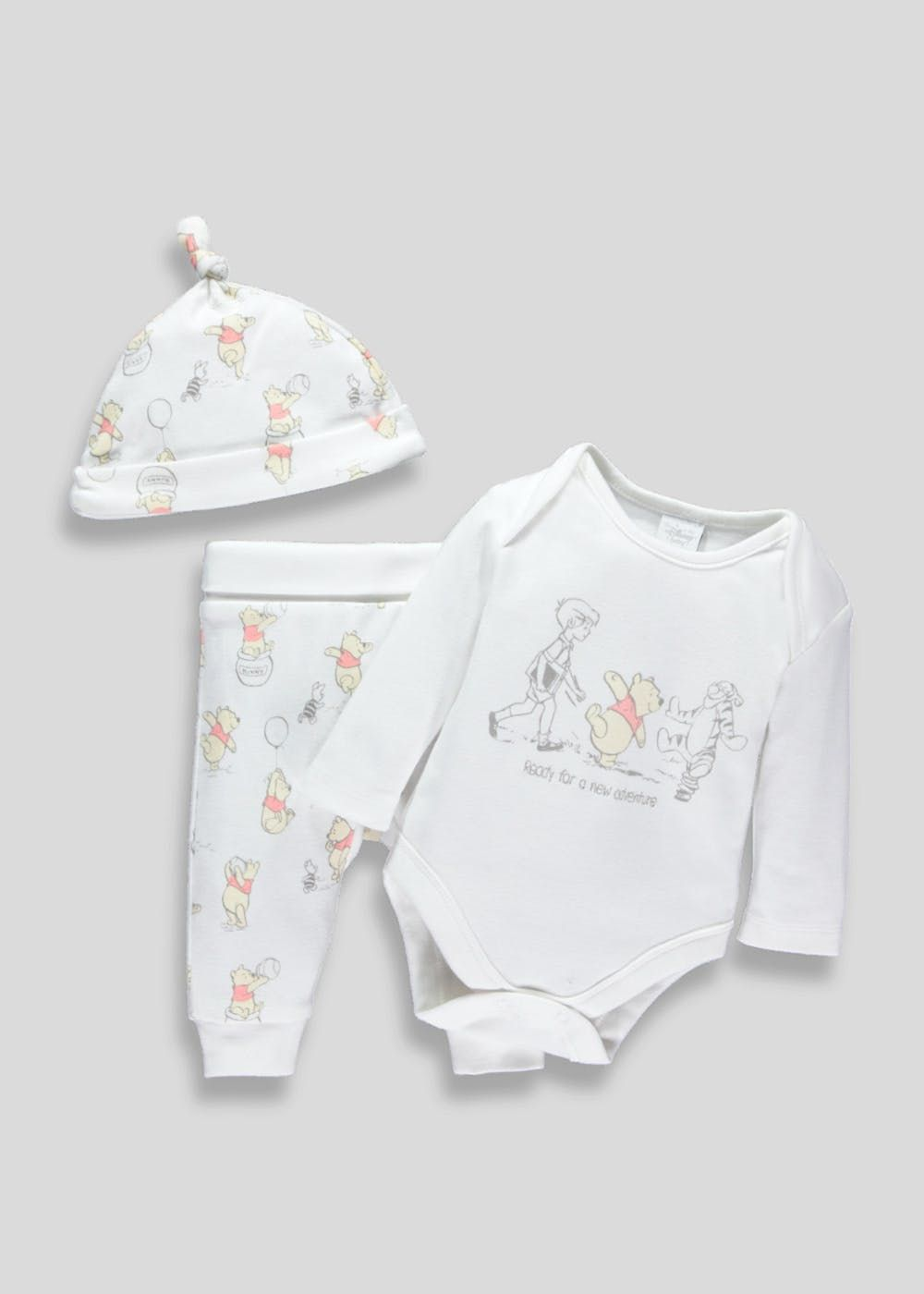 6e0fe059c Treat little baby bears to this super sweet three piece layette gift set.  Crafted in 100% cotton with delicate skin in mind, this bundle comes with a.
