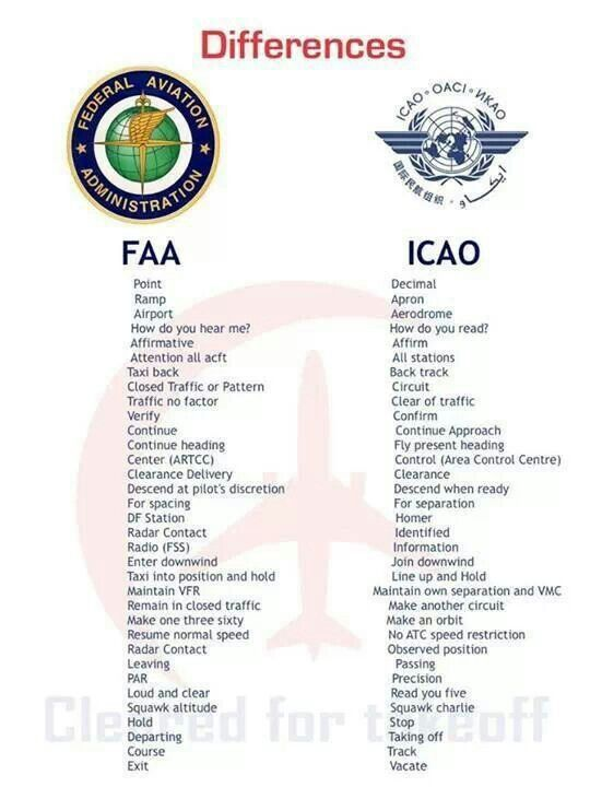 ICAO and FAA differences | Planes ✈️ | Aviation humor, Aviation