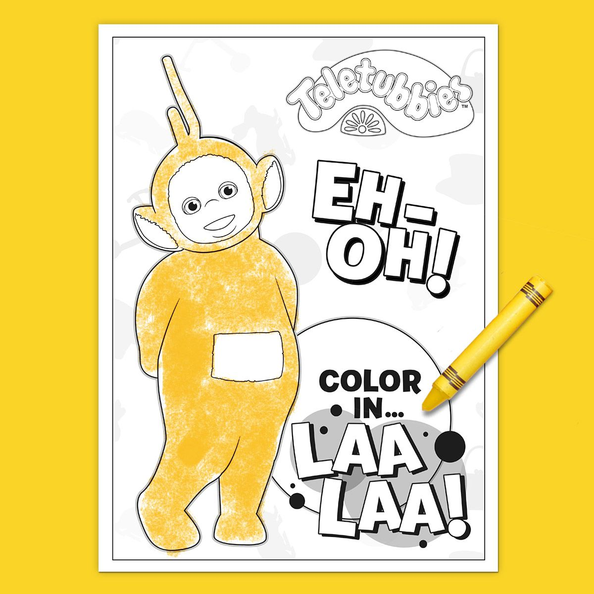 Teletubbies Coloring Page: Laa Laa