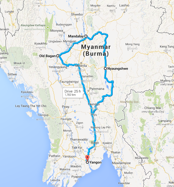 Carte Birmanie Lonely Planet.Burma Itinerary 2 3 Or 4 Weeks Myanmar Myanmar Travel