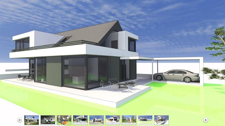 for Architektenhaus satteldach modern