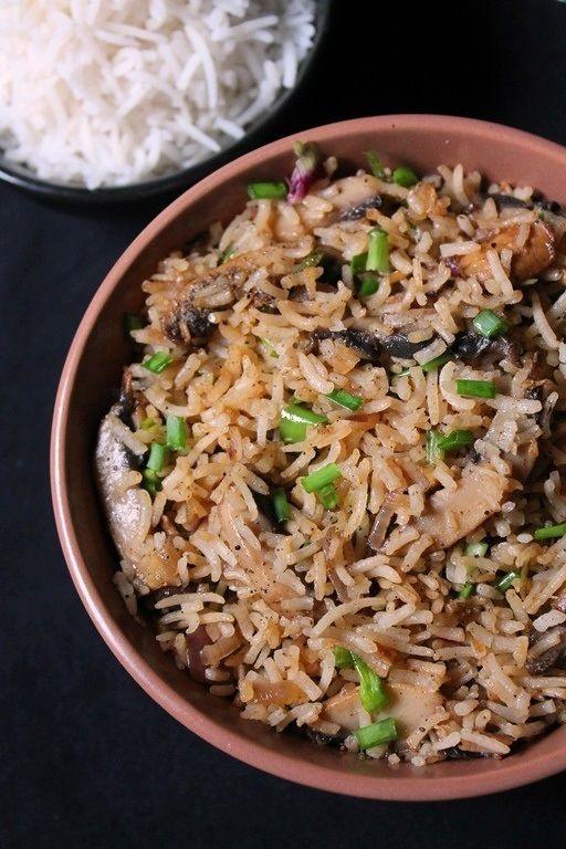 Mushroom Fried Rice Recipe Rice Side Dishes Rice Recipes