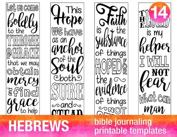 graphic regarding Printable Bible Bookmarks known as Pin upon Hebrews