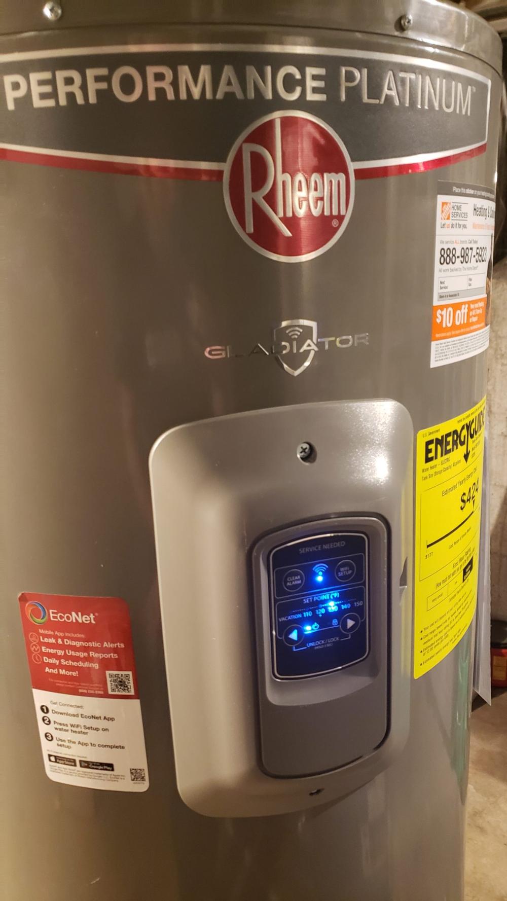 Rheem Gladiator Smart Water Heater Reality Daydream Water Heater Heater Smart Water