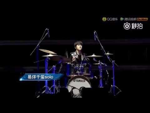[REUP] Dịch Dương Thiên Tỉ đánh trống và dance solo trong Fan Meeting cự...