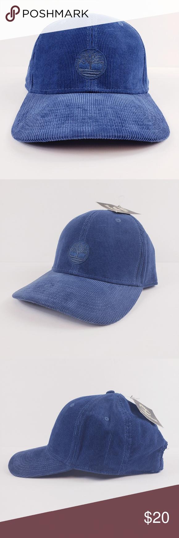 b2b0b5b52de NWT Timberland Blue Corduroy Strapback Hat OSFM Brand new with tags Men s Timberland  Hat Blue Corduroy