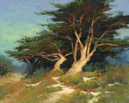 Monterey Cypress   by Guy Rose   Giclee Canvas Print Repro