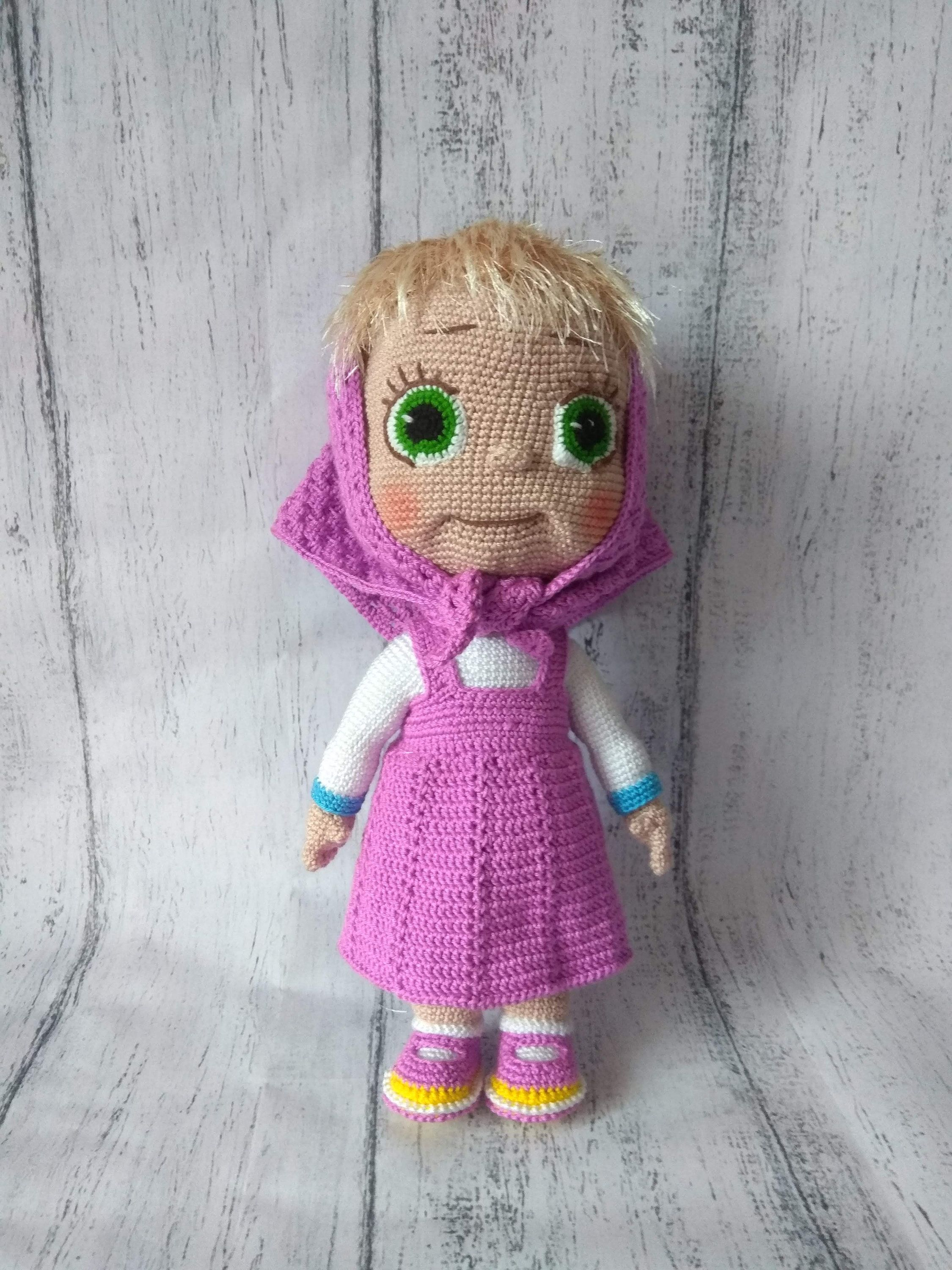 Amigurumi Crochet Pattern Masha And The Bear The Russian Girl ... | 3000x2250