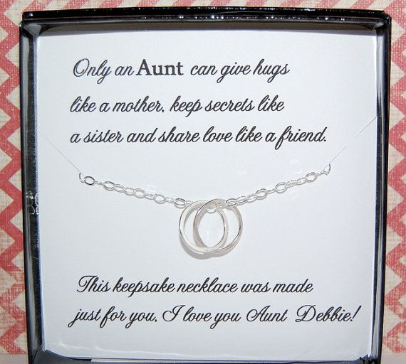Christmas Gifts For Nephew And Niece: AUNT Necklace, Gift For Aunt, Gift From Niece Or Nephew
