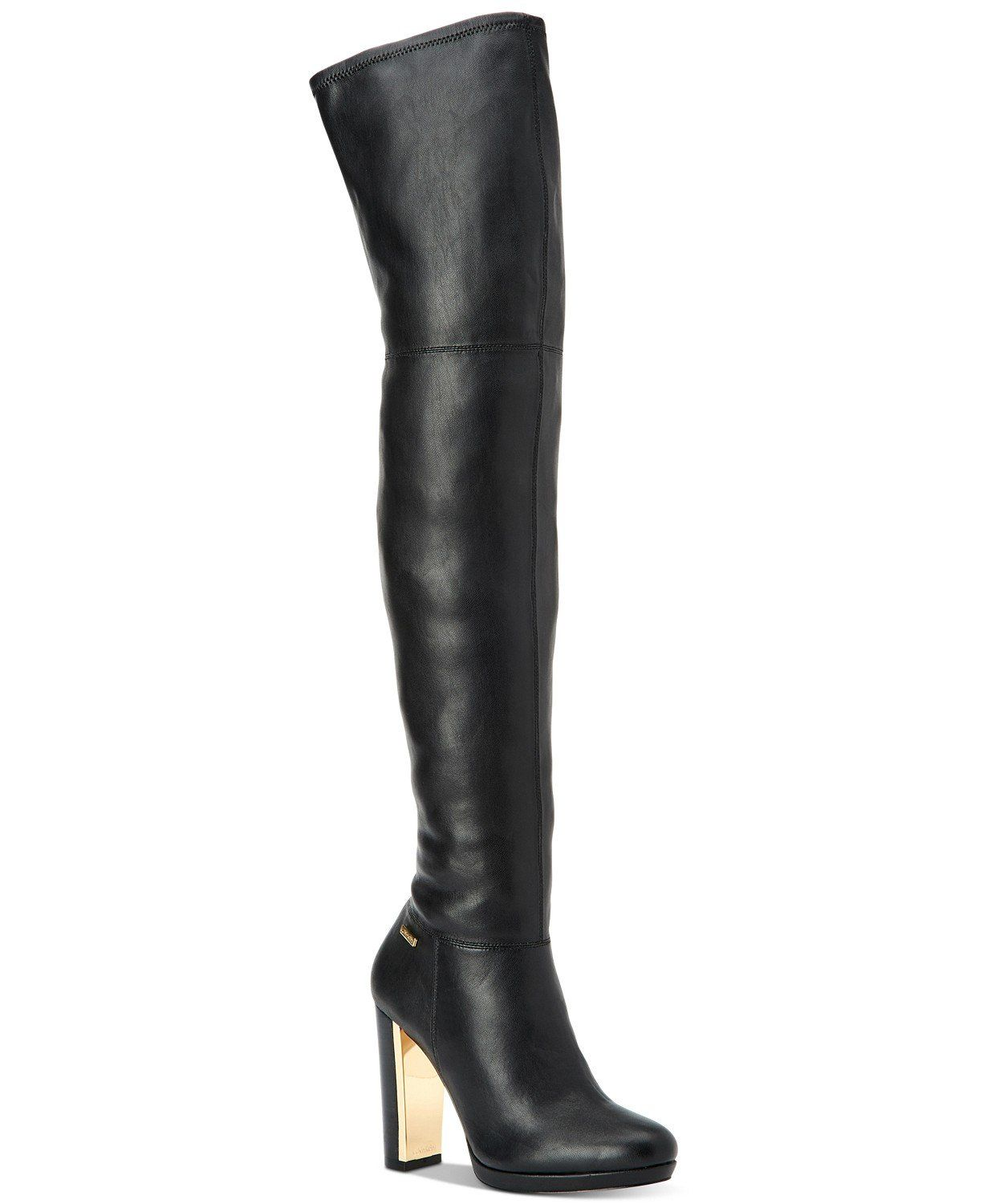 013dc1b884f Calvin Klein Women s Pammie Over The Knee Boot (Black