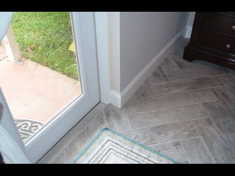 Tile Layout And Laying The First Tile Herringbone Pattern Faux Wood Tiles Tile Layout Floor Tile Design