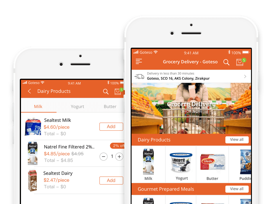 On Demand Grocery Delivery App Development: Goteso #grocery
