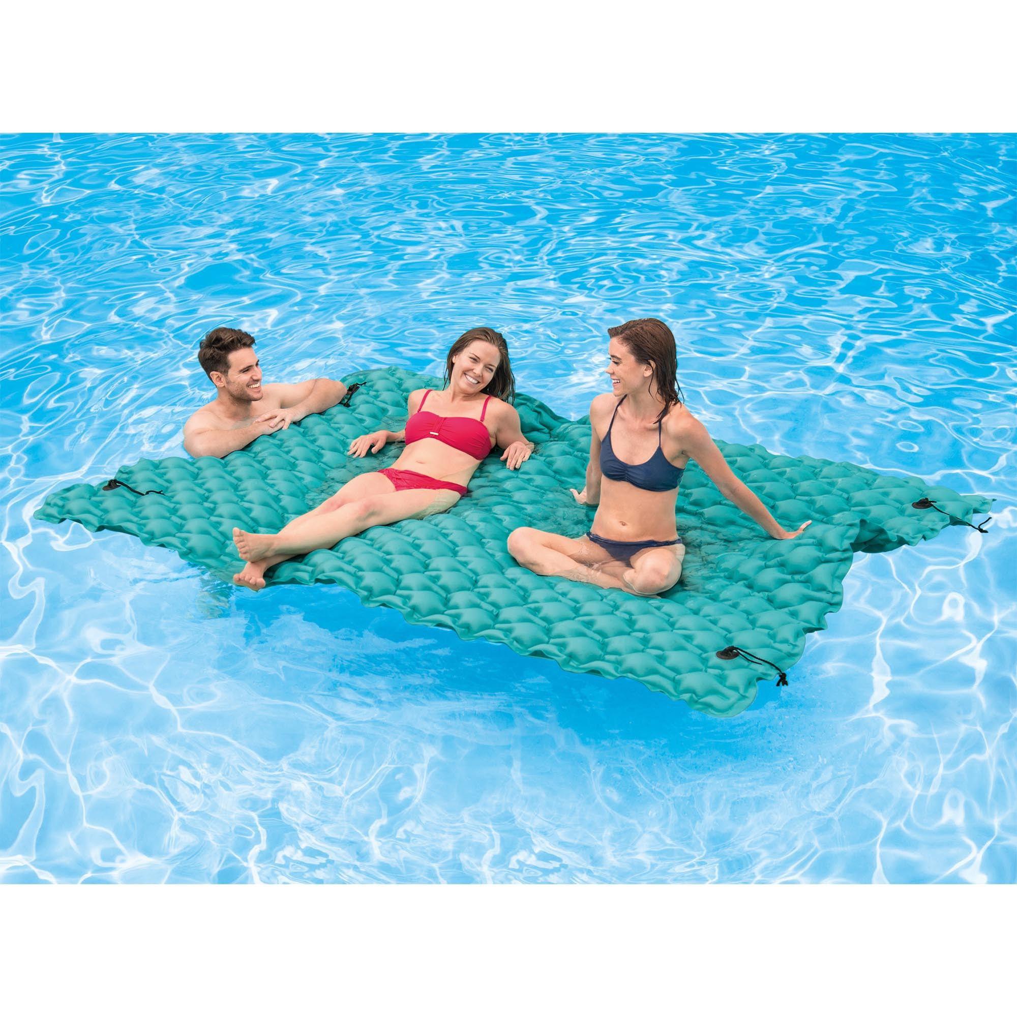 Intex Giant 9.5\' Inflatable Floating Water Swimming Pool Lake Mat ...