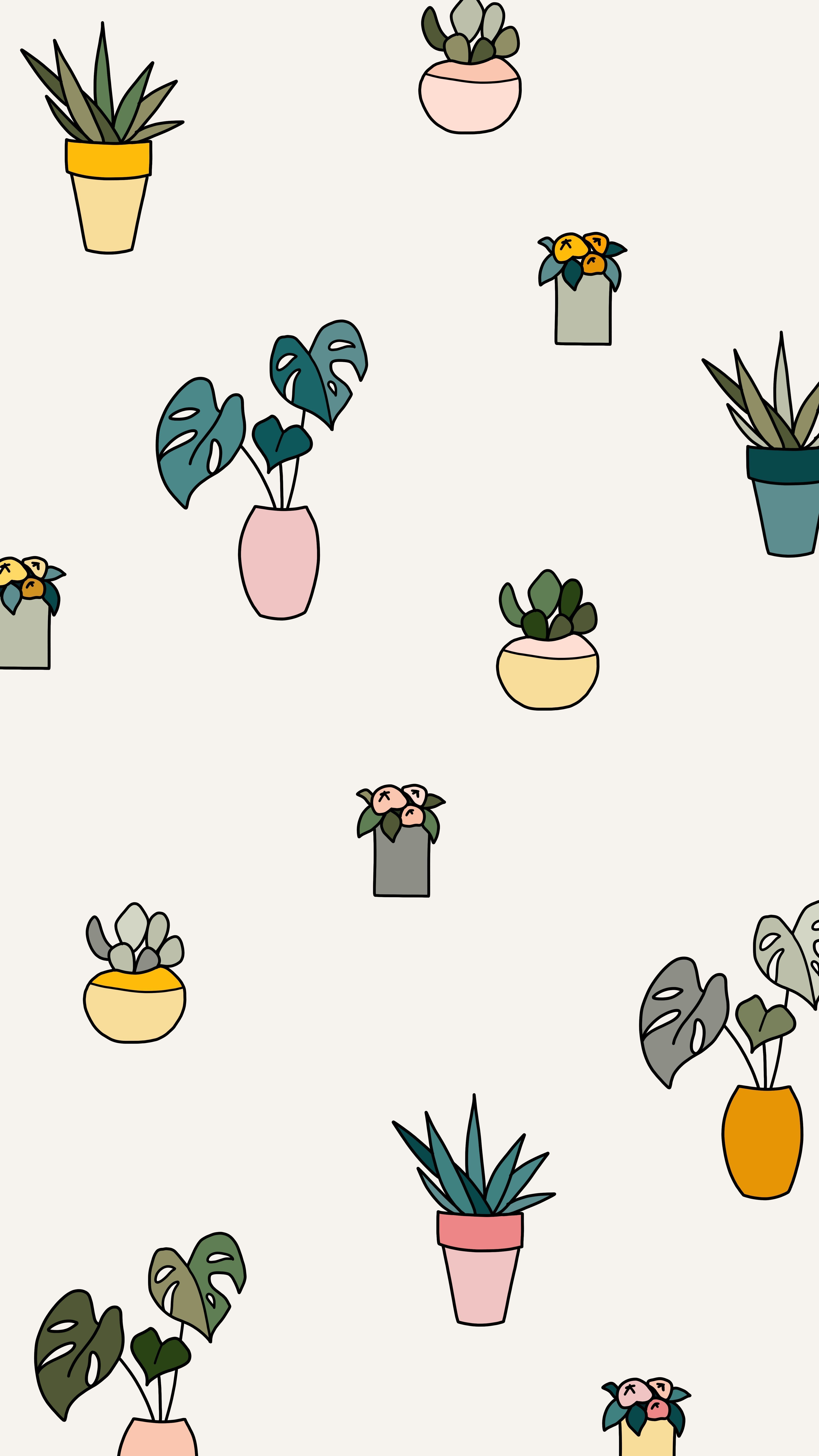 My May Flowers A Daily Drawing Challenge Potted Plants Monstera Leaf Succu Ch Succulents Wallpaper Iphone Background Inspiration Ipad Pro Wallpaper
