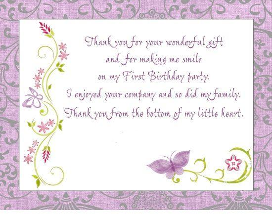 Birthday Thank You Card Wording Free Card Pinterest – Birthday Thank You Photo Cards