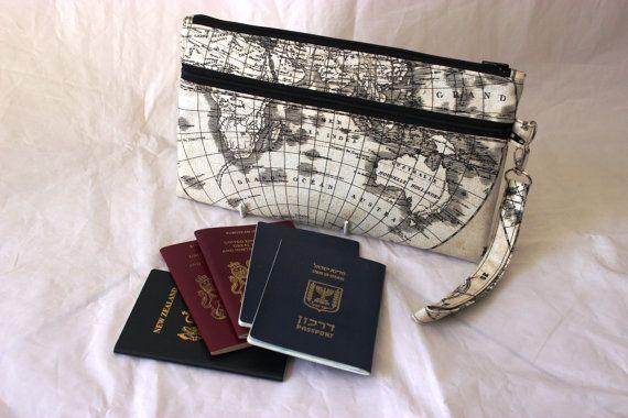 Family passport case travel zipper pouch family passport holder family passport case travel zipper pouch family passport holder world map travel wallet travel organizer boarding pass wallet gumiabroncs Images