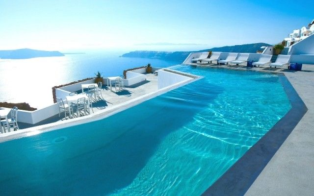Most Luxurious Swimming Pool Amazing Swimming Pools Santorini