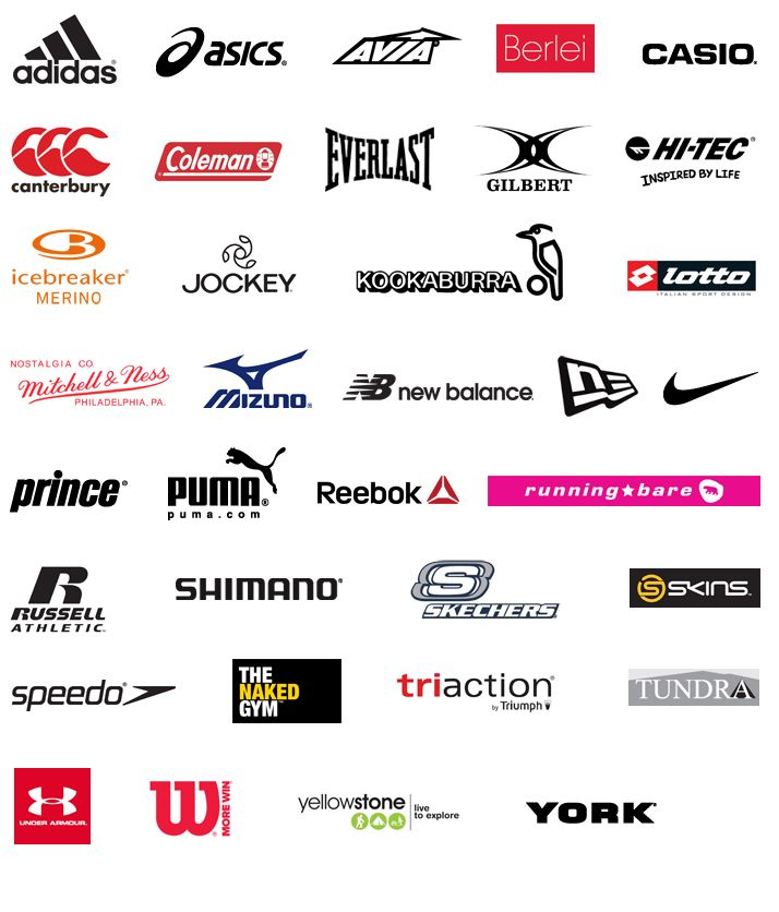 activewear brands guide sports brand logos clothing