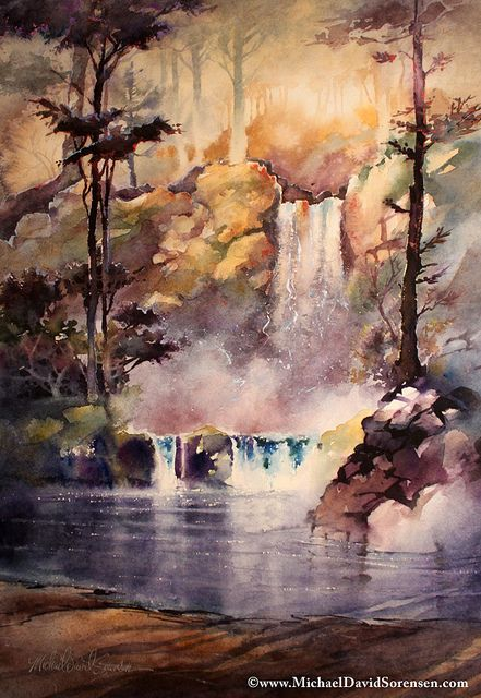 Perfektes Aquarellieren Fur Anfanger Wasserfall Malerei