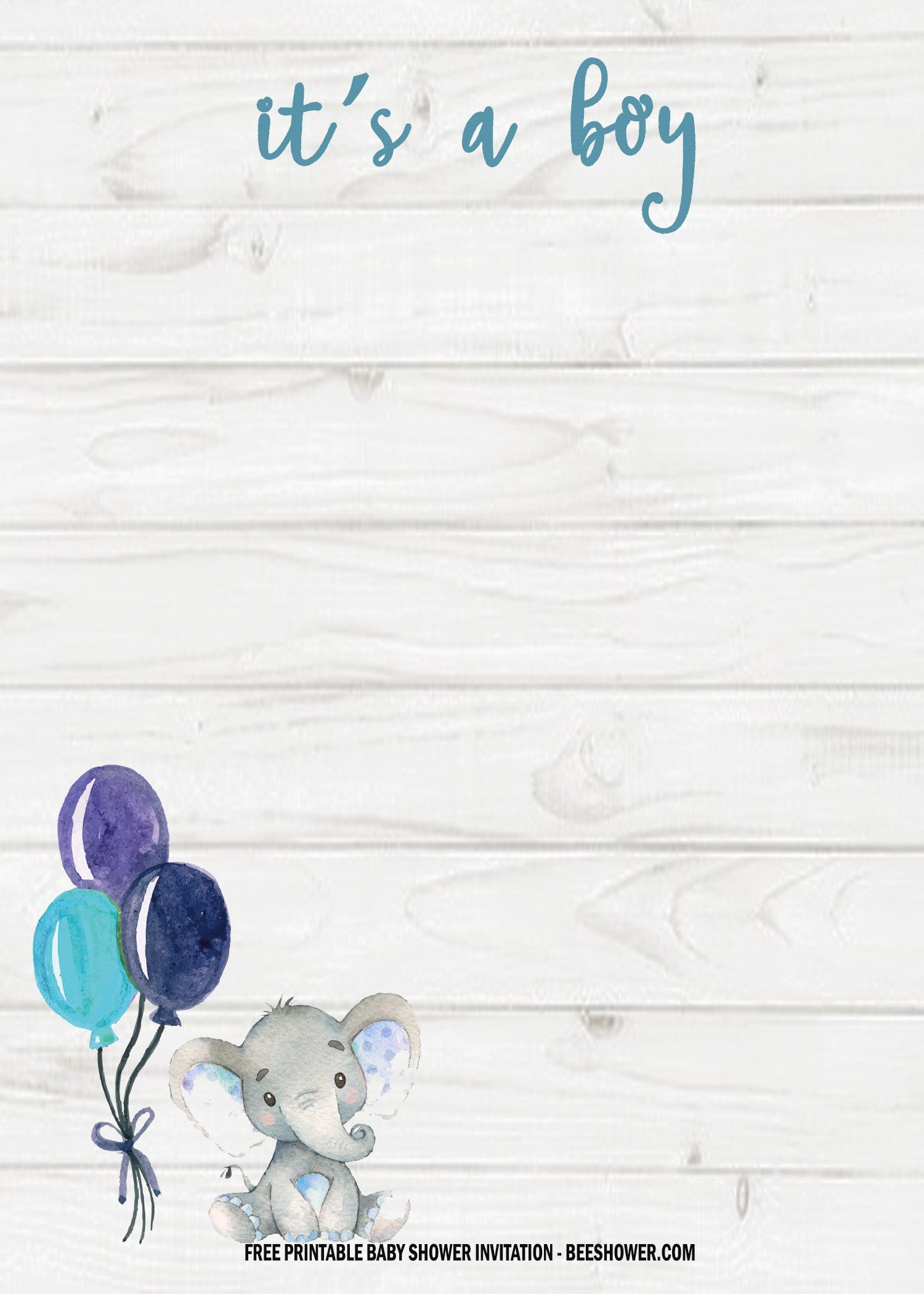 6 Free Blue Elephant Themed Birthday And Baby Shower Invitation Templates Free Printable Baby Shower Invitations Baby Boy Invitations Elephant Baby Shower Invitations