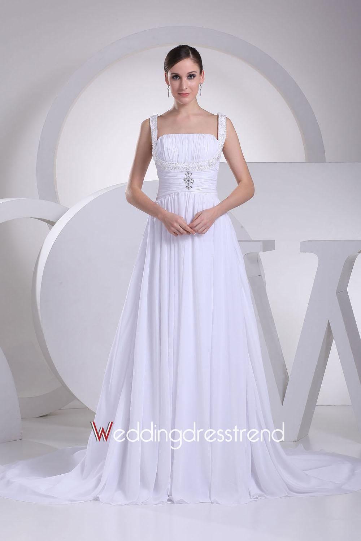 A line chiffon wedding dress  rehearsalreception dress bride Gorgeous Aline FloorLength
