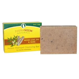 Organix South Theraneem Naturals Neem Therape Cleansing Bar Neem Leaf Oil Bark 4 Oz 113 G Paraben Free Products Organic Bar Soap Neem