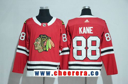buy online 7a508 77685 Men's Chicago Blackhawks #88 Patrick Kane Red 2017-2018 ...