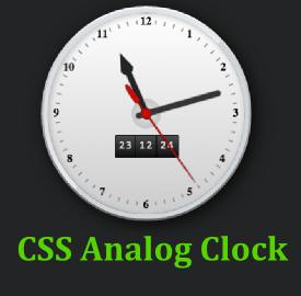 Creative analog clock with CSS   TechRecite   Clock, Digital