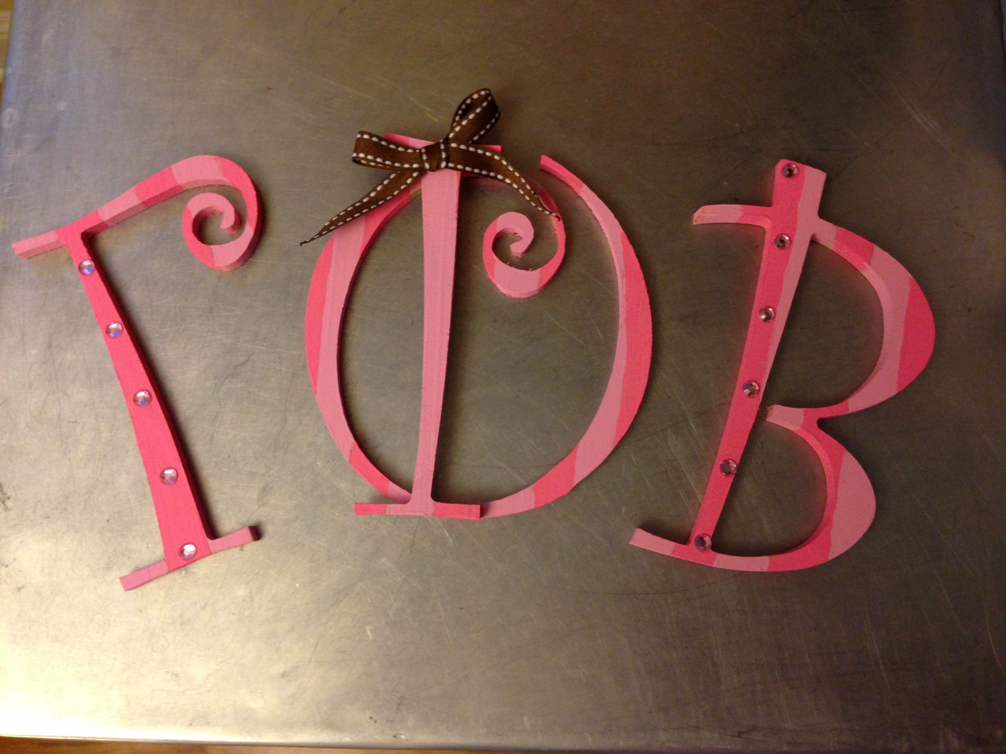 Victoria's Secret inspired! Gamma Phi Beta letters