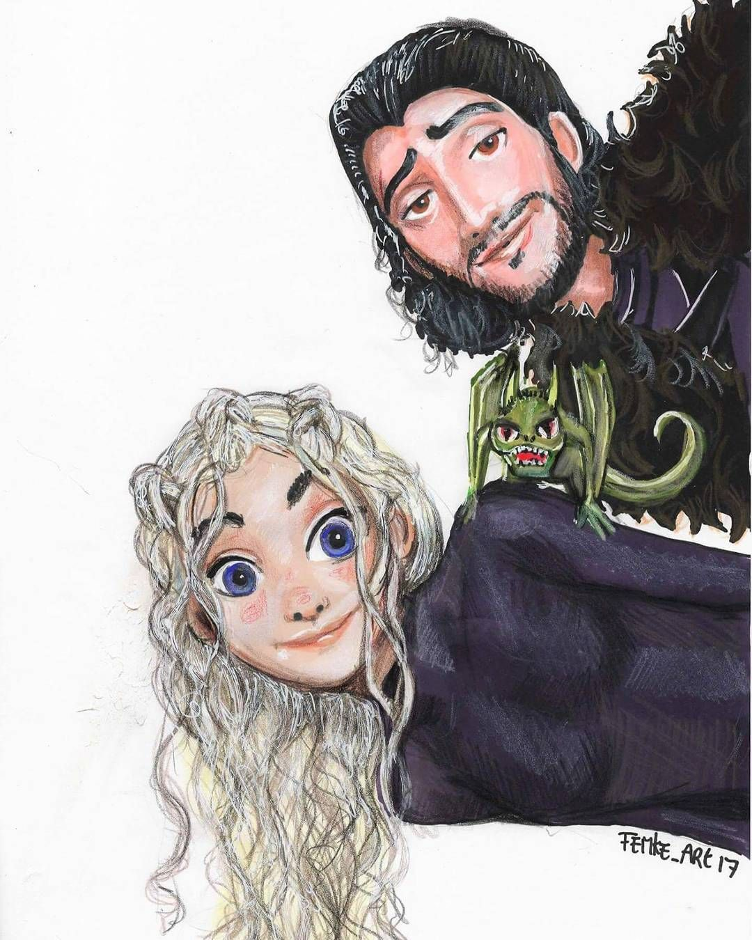 [NO SPOILERS] Jon Snow and Daenerys fan creation by Femke