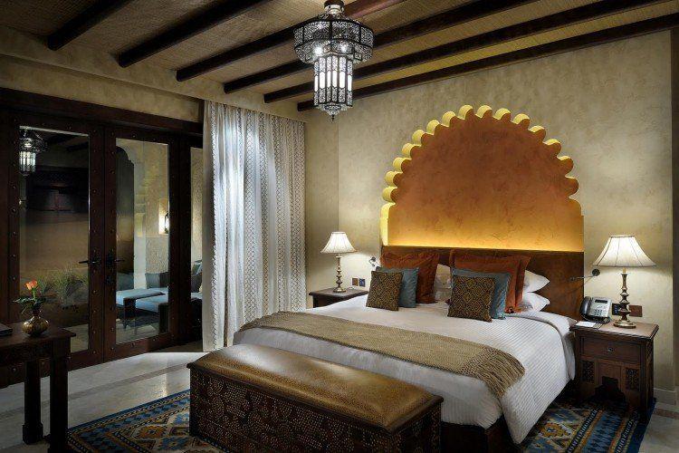 Decoration Orientale Moderne #7: Décoration-orientale Moderne Chambre Coucher Arc Lumineuse