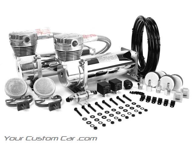 viair 480c  chrome air compressor  dual pack  air bag suspension compressor  air system  on