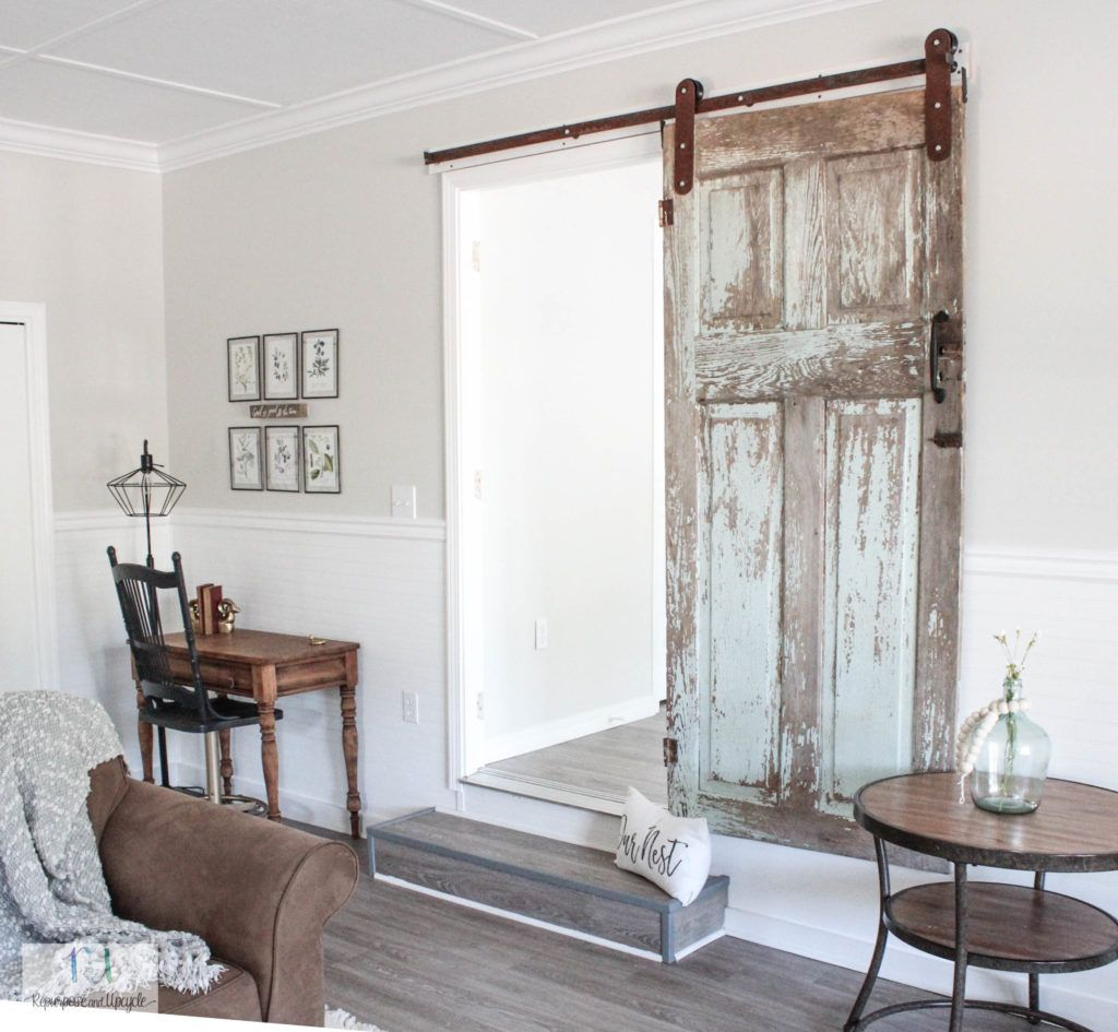A Home For My Chippy Antique Door Farm House Living Room Farmhouse Decor Living Room Farmhouse Decor Trends