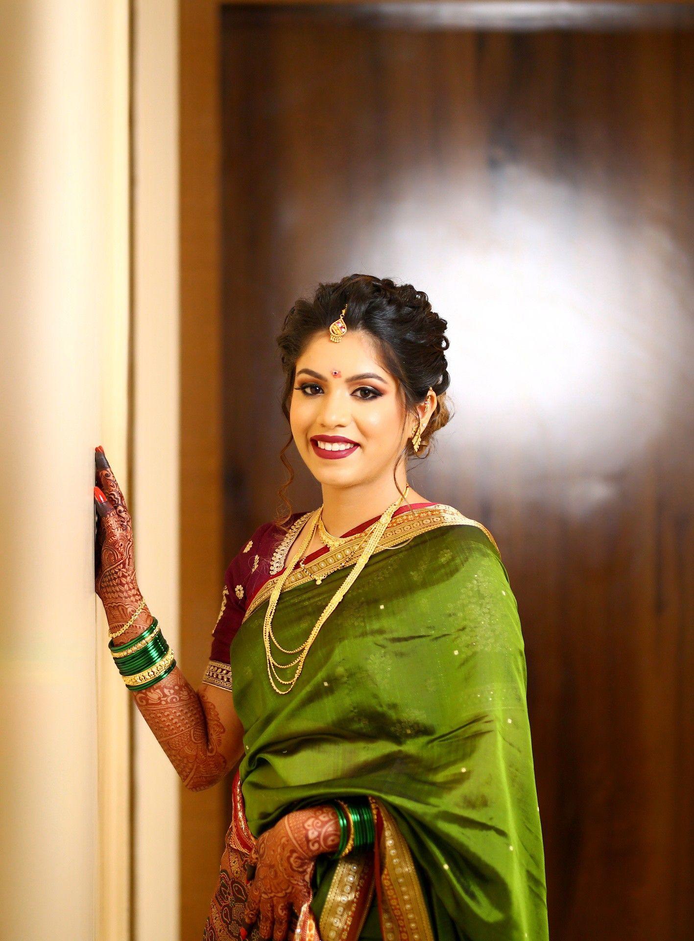 maharashtrian bridal makeup | maharashtrian bride in 2019