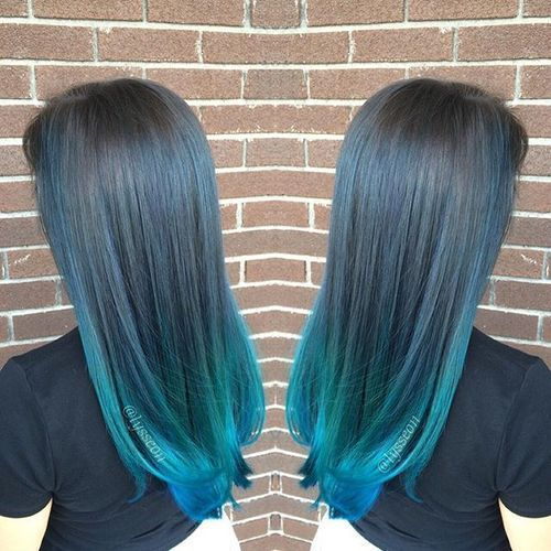 40 Fairy Like Blue Ombre Hairstyles In 2020 Ombre Hair Blue