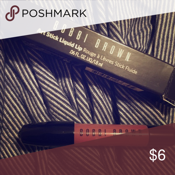 Bobbi Brown liquid lipstick Mini deluxe size in color English Rose. Used only once and sanitized 💄 Sephora Makeup Lipstick